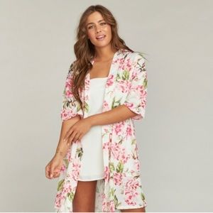 Show Me Your Mumu Brie Robe, Garden of Blooms OS